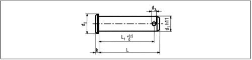 Kolíky, nity, závlačky, kĺby, stavacie krúžky > din 1434